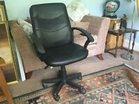 Black Office Adjustable Office Chair with Arms