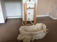 Doll Bassinet & Stand For Sale