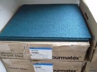"Burmatex ""Academy"" Carpet Tiles, 44 tiles 11 m2, Harrow Green (blue/green)."