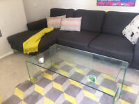 Modern DWELL Coffee Table for Sale - Puro tempered glass - Beautiful sleek - Must See