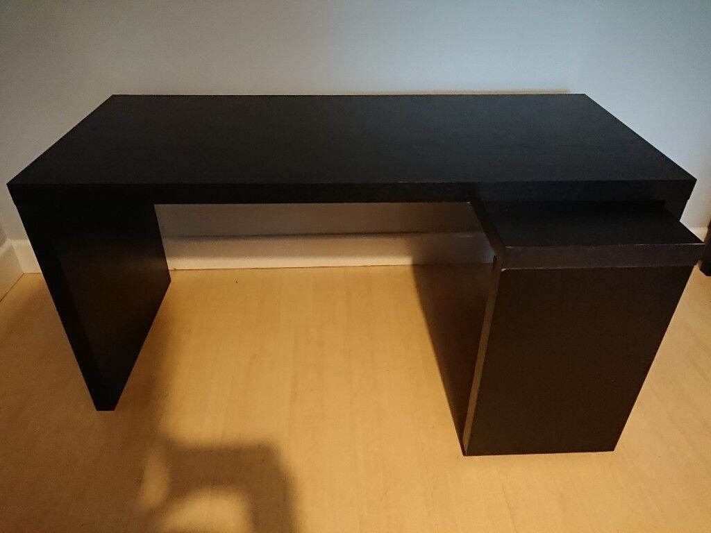 Ikea Malm Desk With Pull Out Panel Black Brown In Eastleigh