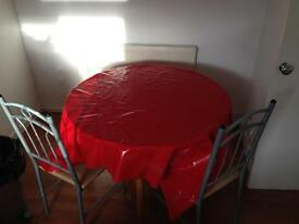 Large table and 2 chairs