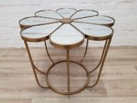 Flower Mirrored Table (DELIVERY AVAILABLE)