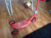 McQueen 3wheels child kids scooter