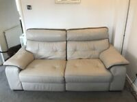 Leather 2.5 seater and 2 arm chairs - all recliner