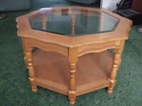 OFFERS - Glass/Wood Coffee Table