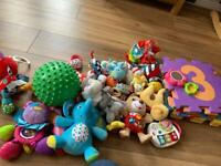 Bag of Baby soft toys and mats