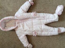 Baby girls 6-9 months snowsuit