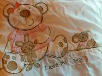 Girl's cot bed bedding