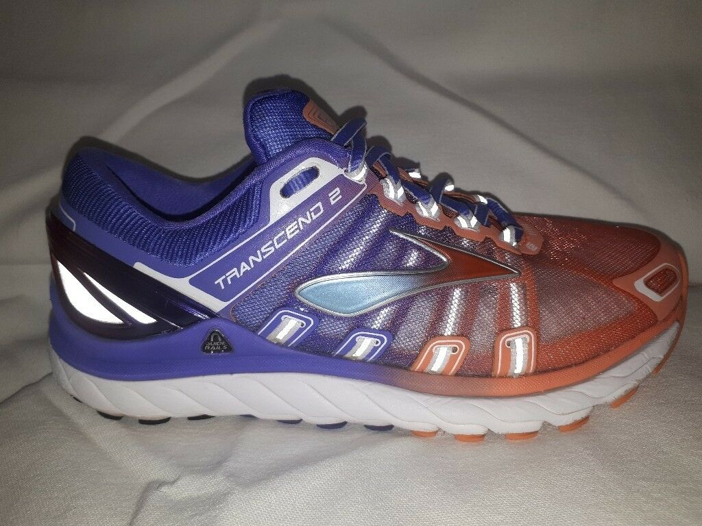 b9c671a528508 Brooks Transcend 2 Womens Running Shoes in very good condition purple  orange size 5 ...good price!!