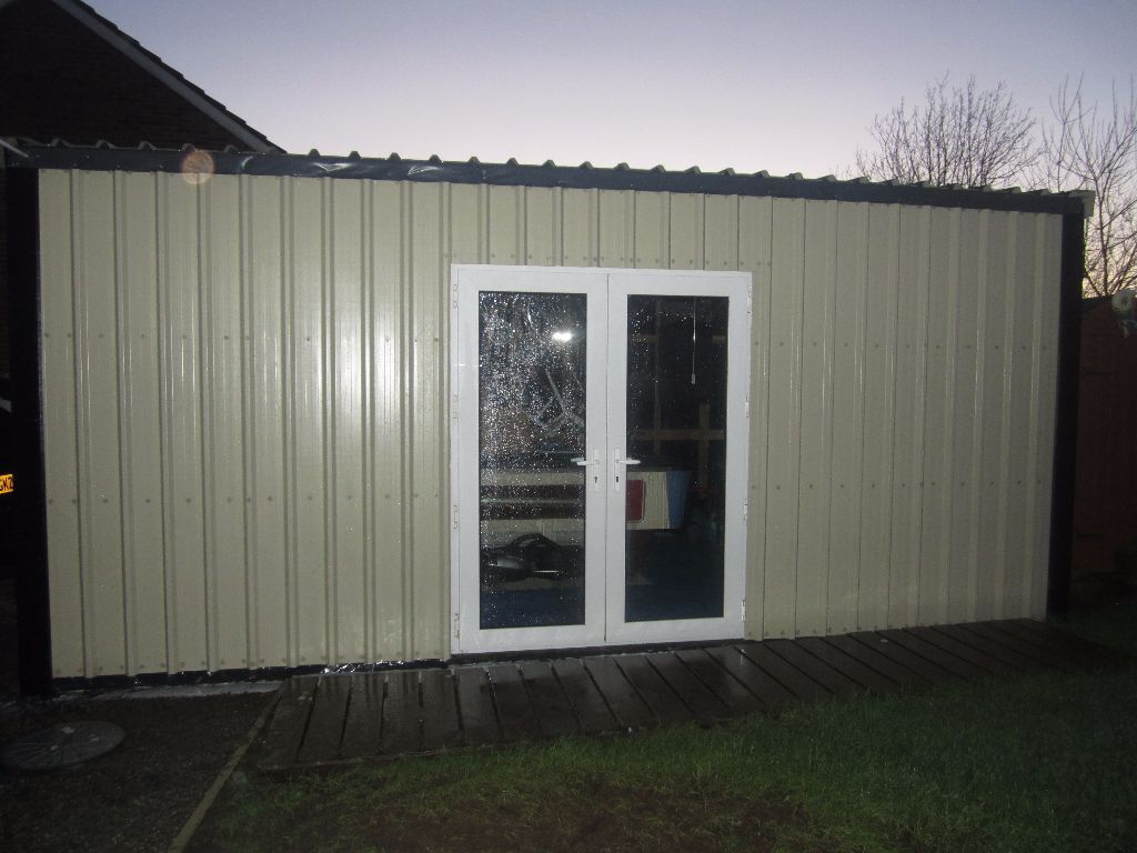Ft box profile metal cladding garden shed