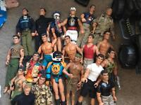 Action men and accessories