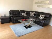 Corner leather Sofa,Dining Table set and coffee table
