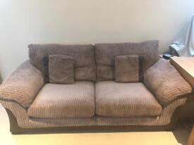 2 x DFS Sofa - brown - great condition - delivery possible within Oxford
