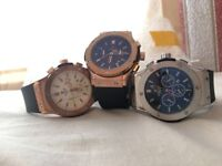 Brand new Hublot watches for sale, different colours, not Cartier, Armani, Rolex, Breitling.