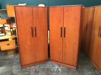 Pair of Fresco 2 Door Wardrobes by G Plan. Retro Vintage Mid Century