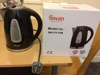 SWAN ELECTRIC KETTEL, BLACK 3000w, NEW EXCELLENT WORKING CONDITION, WITH ORIGINAL PACKING.
