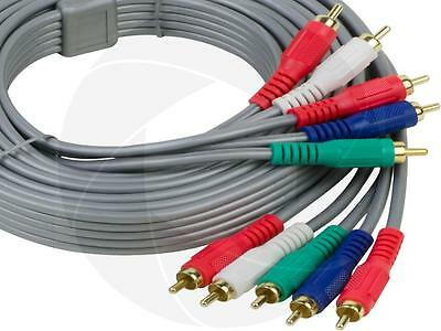 Component Video Cable Gold Plating - HDTV Video Audio 5RCA Plugs Component RCA AV Gold Plated HD Cable (10FT) 3Meters