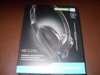 SENNHEISER HD 2.20S on ear Headphones new in sealed box.
