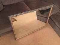 Medium-Sized Grey Wooden Framed Mirror