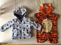 baby winter coat BHS 0-3 months and disney tigger bodysuit 3-6 months