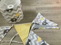 Ceiling lampshade and matching bunting (children's/nursery)