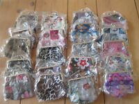 45 x Mini coin purses (new and in original packaging). Assorted designs. £20 RRP £4.99 each