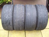 """x4 18"""" tyres - 245/45 18 - I WILL POST TO UK -"""