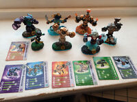 Skylander Swap Force portal, Wii game and 7 Swap Force figures with cards.