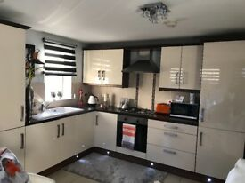 high gloss luxury fitted kitchen