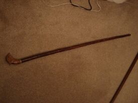Walking Stick with Wooden Grouse Head 109cm