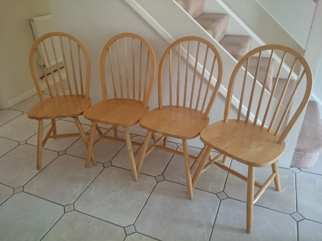 Fantastic 4 Ercol Style Windsor Dining Chairs Pine Stick Back Dining Chairs In Colchester Essex Gumtree Alphanode Cool Chair Designs And Ideas Alphanodeonline