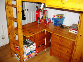 Single Wooden Cabin Bed for sale