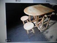 PINE KITCHEN TABLE & STOOLS