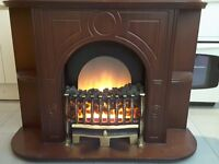 Wooden Electric Fan Fireplace for Sale - In Good Condition