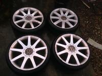 """18"""" Oldstyle Audi RS4s Alloys 5x100 5x112 multifit"""