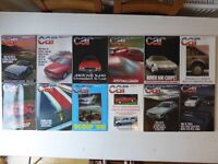 Vintage editions of CAR Magazine. 12 issues from 1986.