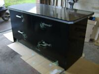 Kitchen drawer units/island /base unit etc,BRAND NEW,high gloss black,wrapping film still on fronts