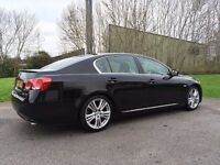Lexus GS450h Hybrid with BC coilovers black saloon
