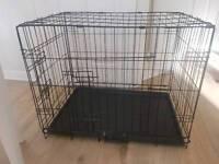 Medium black dog cage
