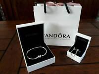 Genuine Pandora bracelet 20cm and safety chain