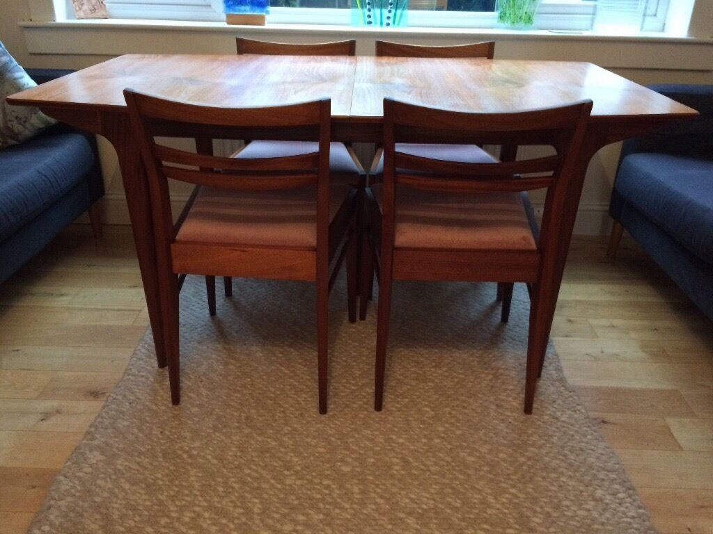 Teak Dining Table And 4 Chairs McIntosh Dunvegan Early 1960s In Bearsden