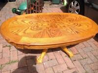 Oak coffee table And large lamp table