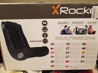 XROCKER GAMING CHAIR, BRAND NEW, UNUSED. IN ORIGINAL BOX
