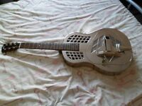 Recording King RM991 Acoustic, Brass-Bodied Resonator Guitar