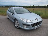 Peugeot 407 SW S 1.6 HDi 110 BHP ~ YEARS MOT ~ FSH ~ VGC ~ EXCELLENT FAMILY CAR ONLY £2,495 ono