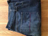"FCUK 'King Crimson Ohio' Men's Bootcut Jeans (34""W x 32""L) (never worn)"
