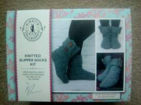 Kirsty Allsopp knitting Slipper Kit