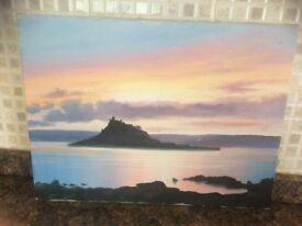 An oil on canvas