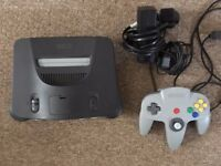 N64 Nintendo64 Console, Controller, Cables & Controller Pak Memory Card